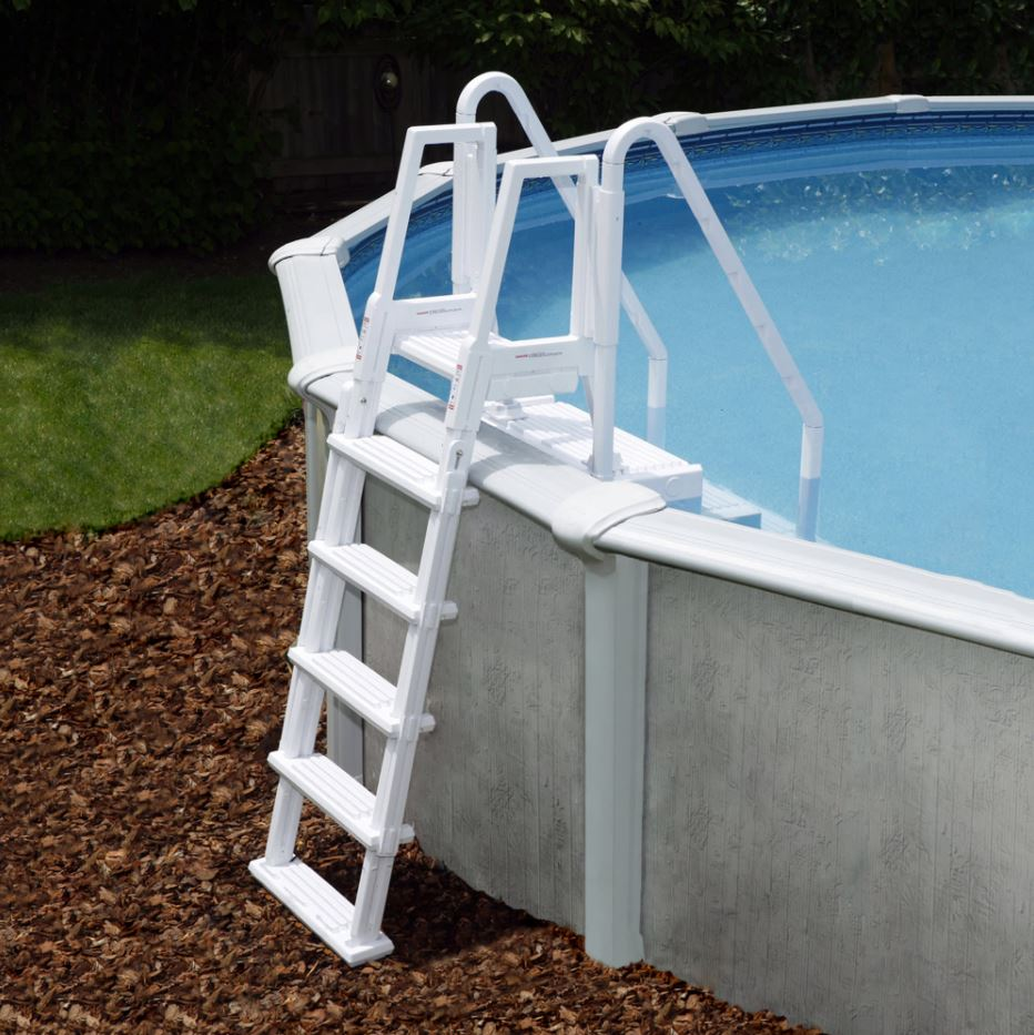Easy Pool Step w/ Outside Ladder (Pool Not as Pictured)