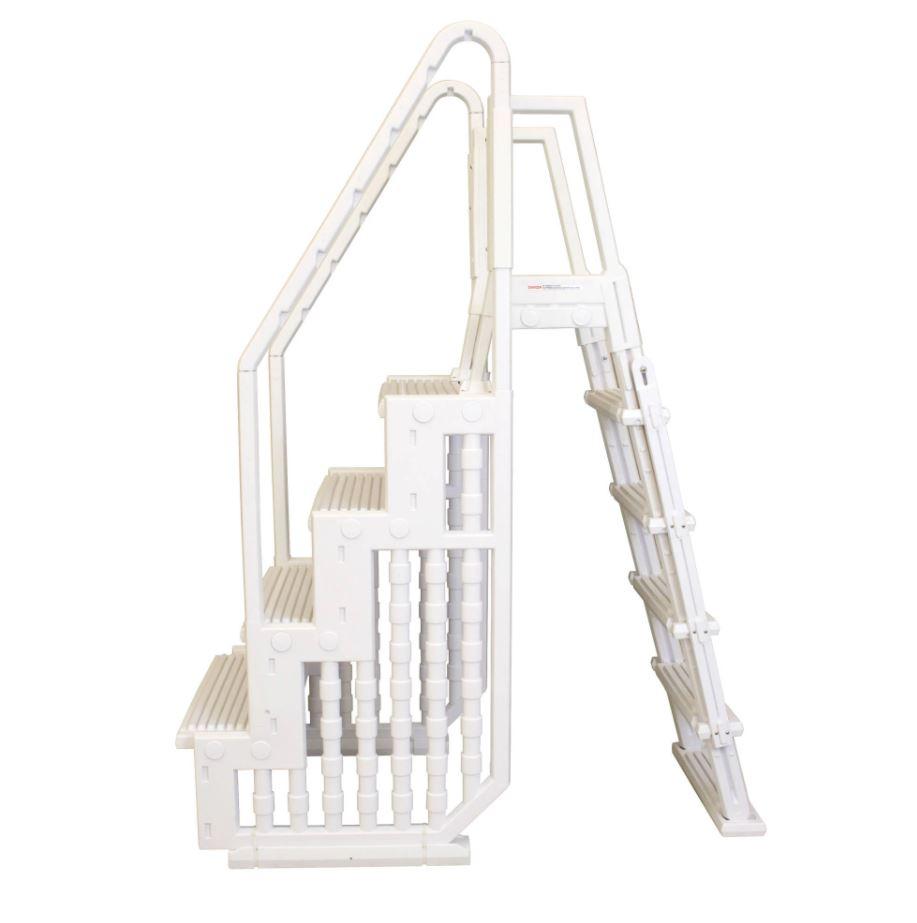 White Resin A-Frame Ladder
