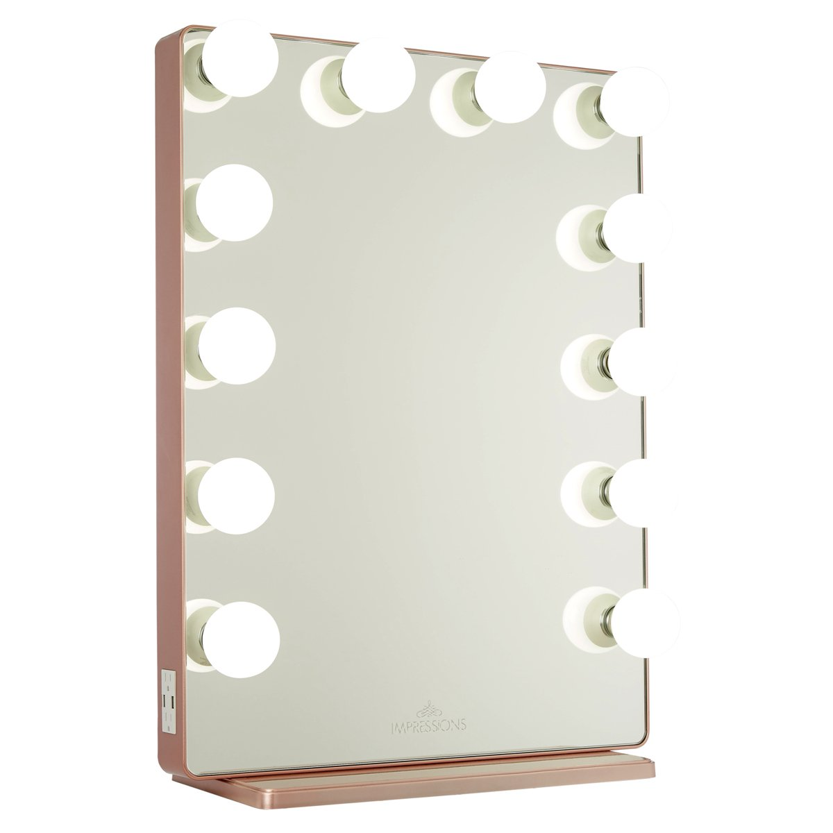 Rose Gold Vanity Mirror w/ Frosted LED Light Bulbs