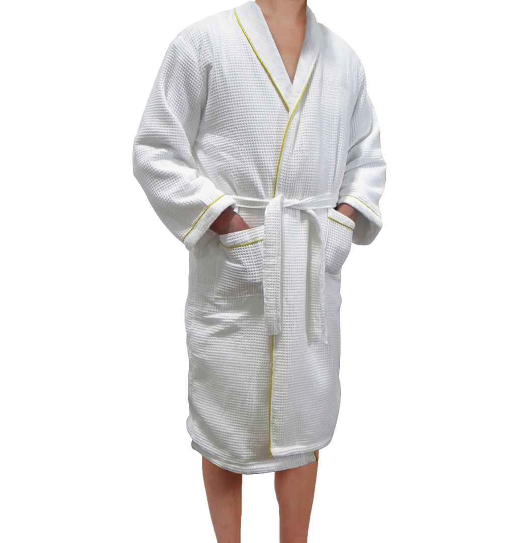 White Robe w/ Gold Trim