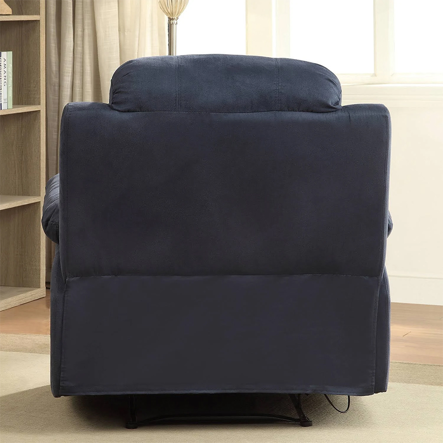 Blue Recliner Back