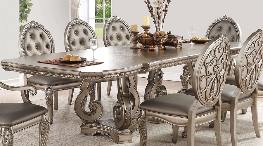 Rectangular Dining Table Closer Details