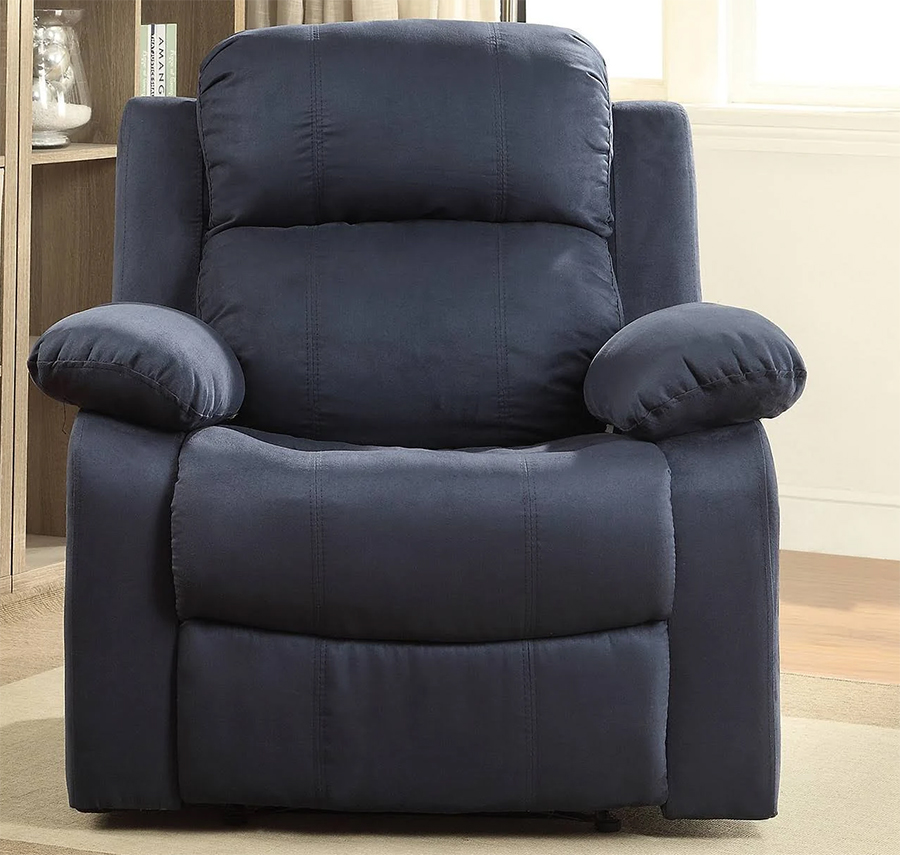 Blue Recliner Front