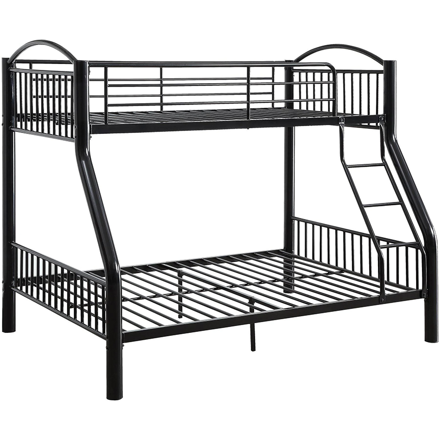 Black Twin/Full Bunk Bed Frame