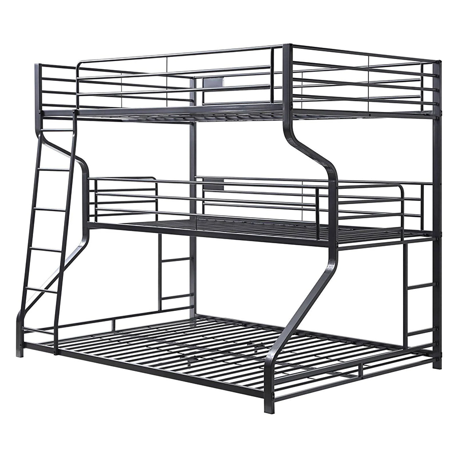 Gunmetal Triple Bunk Bed Frame