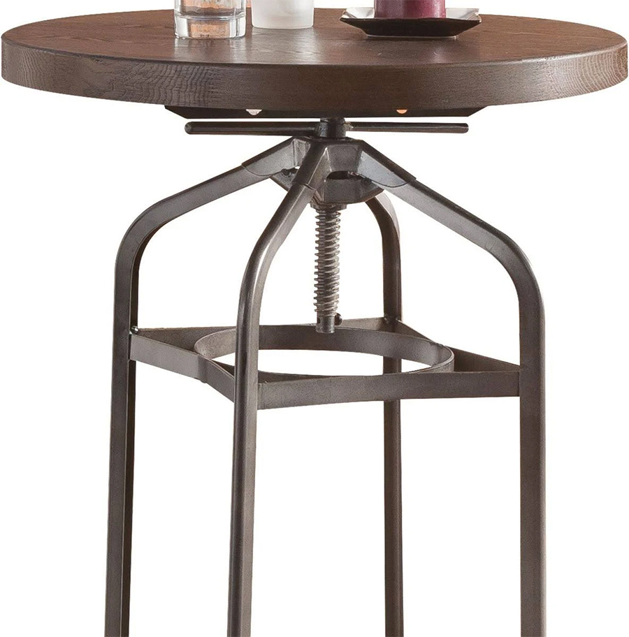 Bar Table Adjustable Height Details