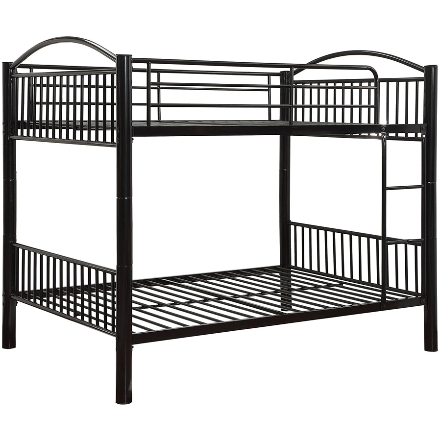 Black Full/Full Bunk Bed Frame