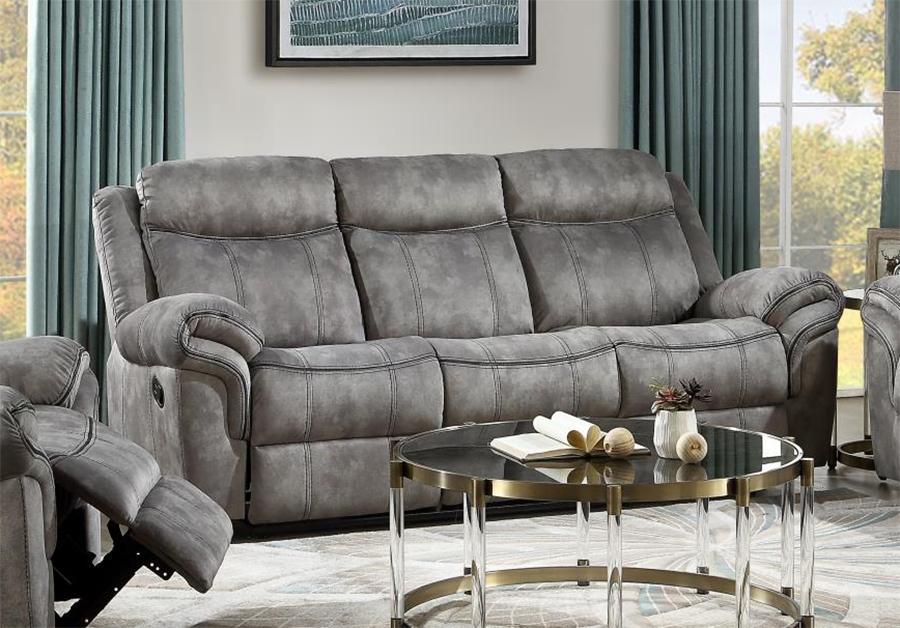 Two Tone Gray Reclining Sofa