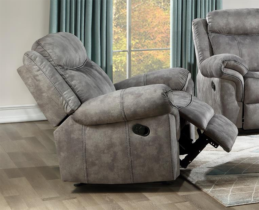 Two Tone Gray Glider Recliner