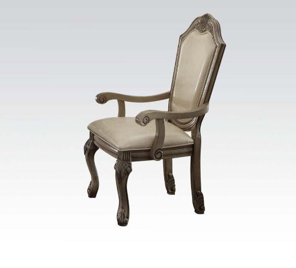 Antique White Arm Chair