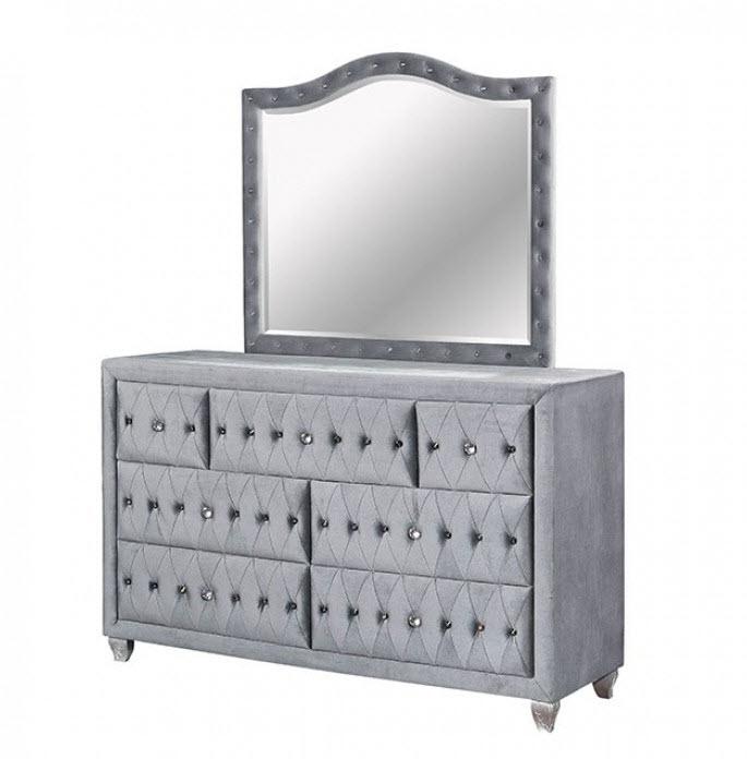 Gray Dresser W/Mirror