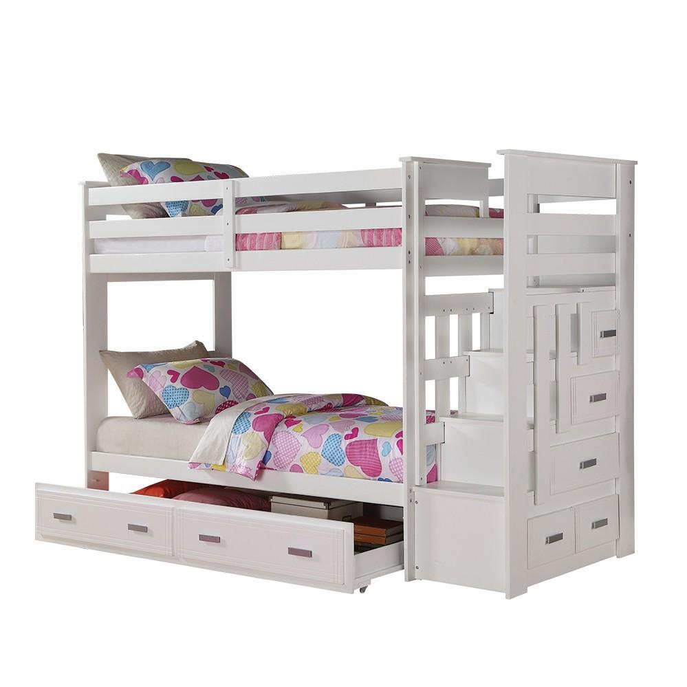 Bunk Bed with Storage Ladder