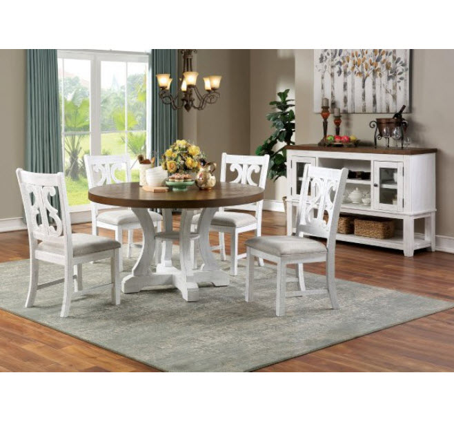 Auletta Distressed Round Dining Table