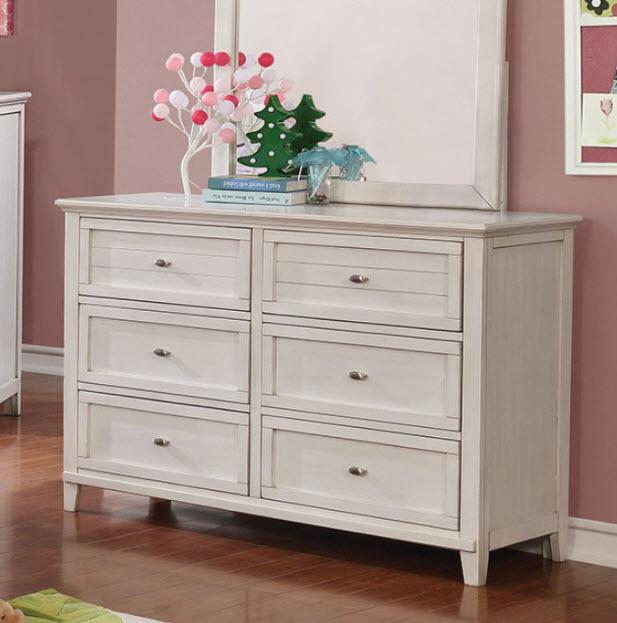 Antique White Dresser W/Mirror