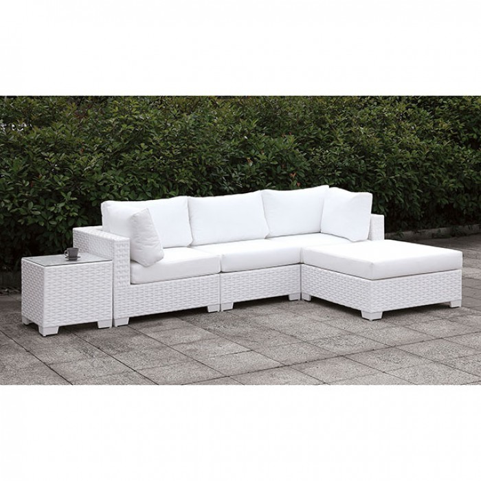Complete Patio L-Sectional Sofa Set w/ Right Chaise