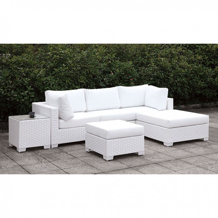 Complete Small L-Sectional Sofa Set w/ Right Chaise and Ottoman