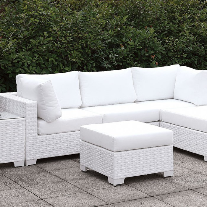 Small L-Sectional Sofa Set w/ Right Chaise and Ottoman Close Up