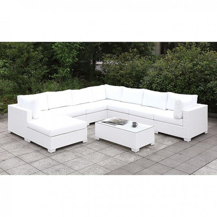Complete Patio U-Sectional w/ Coffee Table Sofa Set