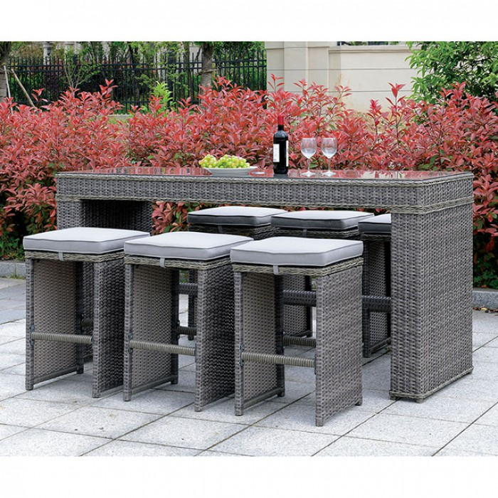 Complete Patio Bar Table Set