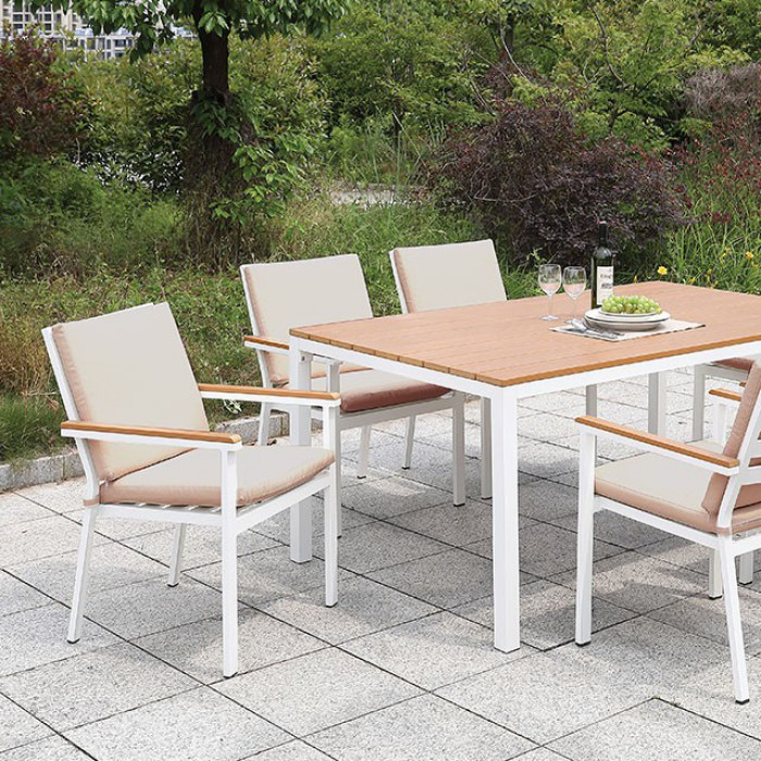 Patio Dining Table Set Close Up