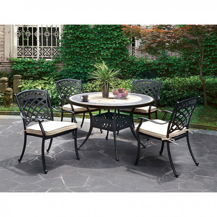 Complete Round Patio Dining Table Set