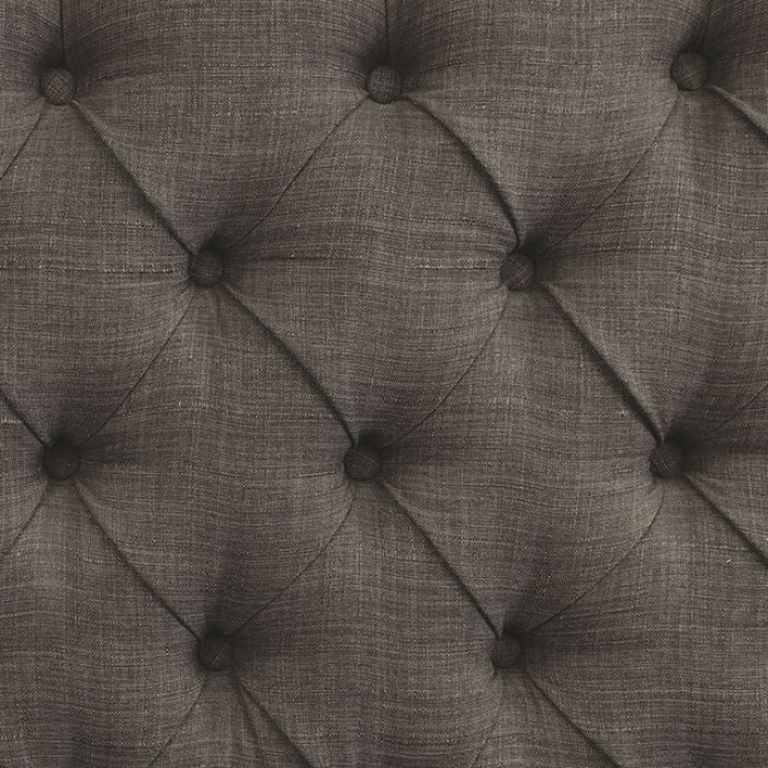 Gray Button Tufted Upholstery Finish