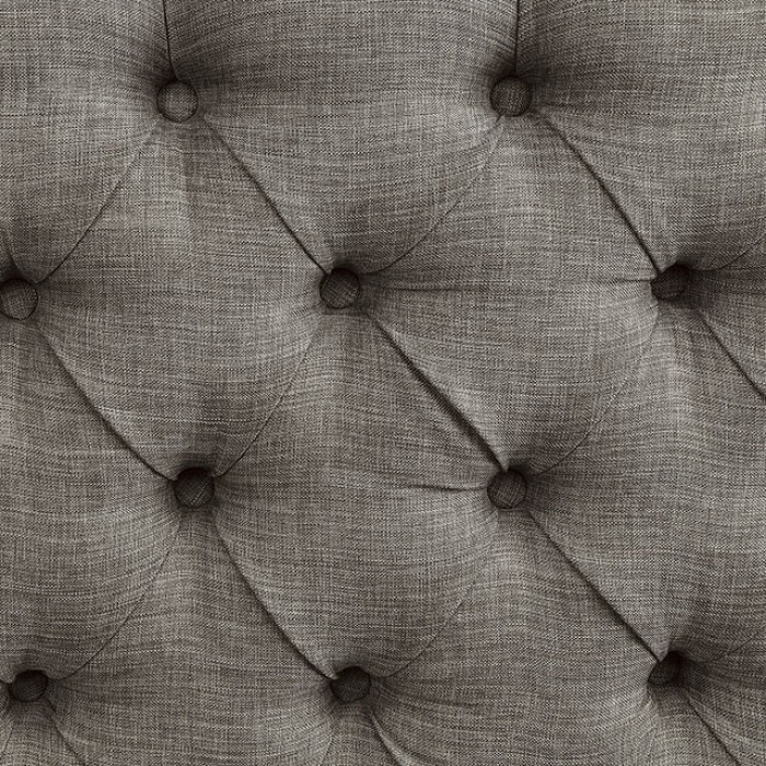 Light Gray Button Tufted Upholstery Finish