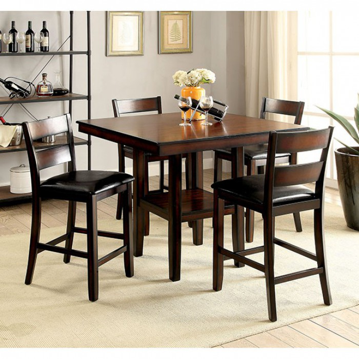 Complete 5 Piece Counter Height Table Set