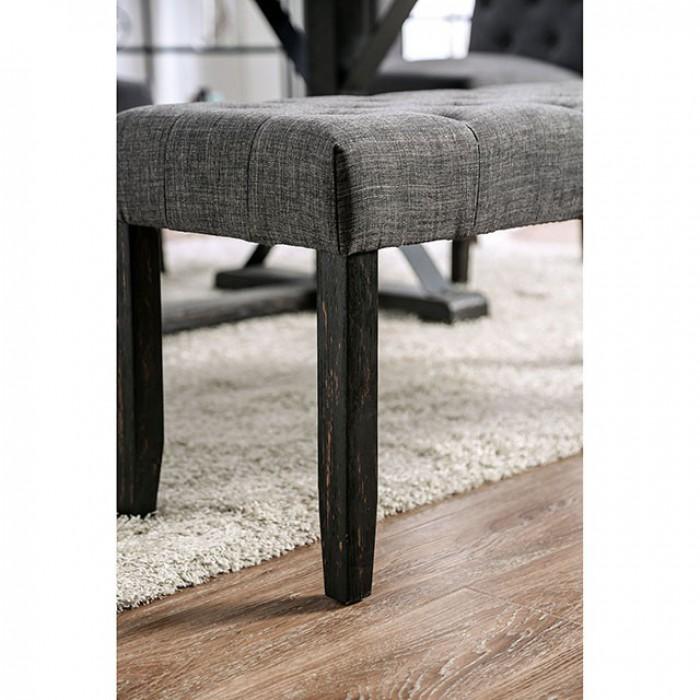 Gray Bench Leg View