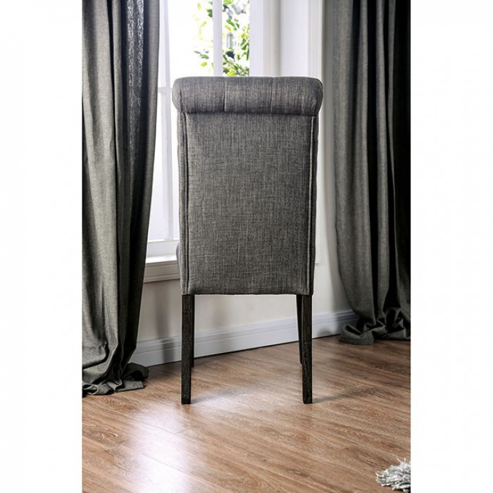 Gray Side Chair Back