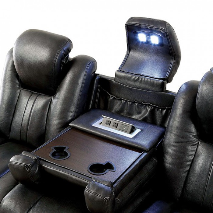 Center Console in Sofa w/ Cupholders, Reading Light, and USB Outlet