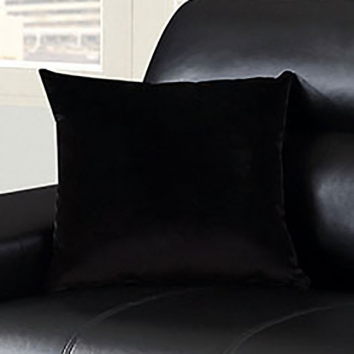 Black Included Pillows One Side