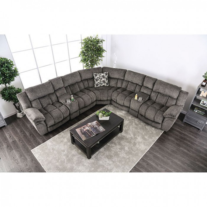 Gray Sectional Sofa Top View