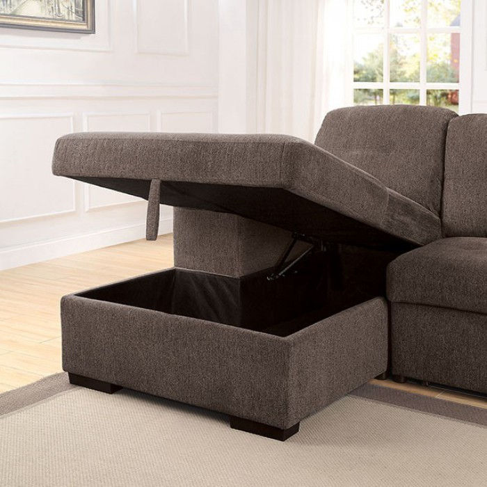 Sectional Sofa w/ Open Chaise Storage