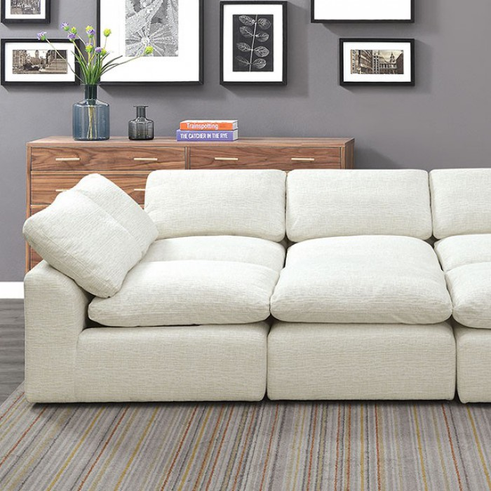 Cream Sleeper Sofa Closer Look