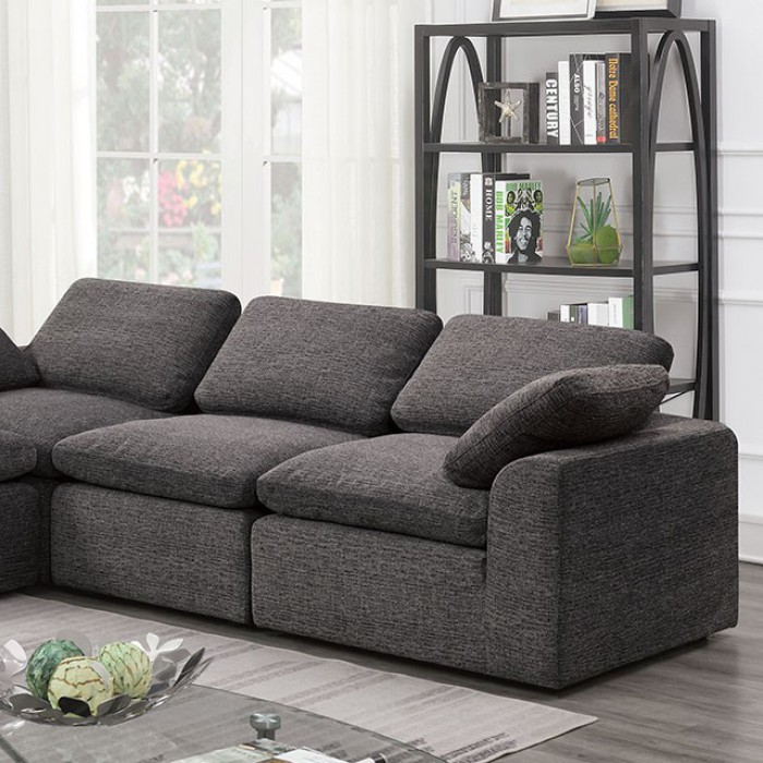 Gray 4 Piece Sectional Sofa Closer Look
