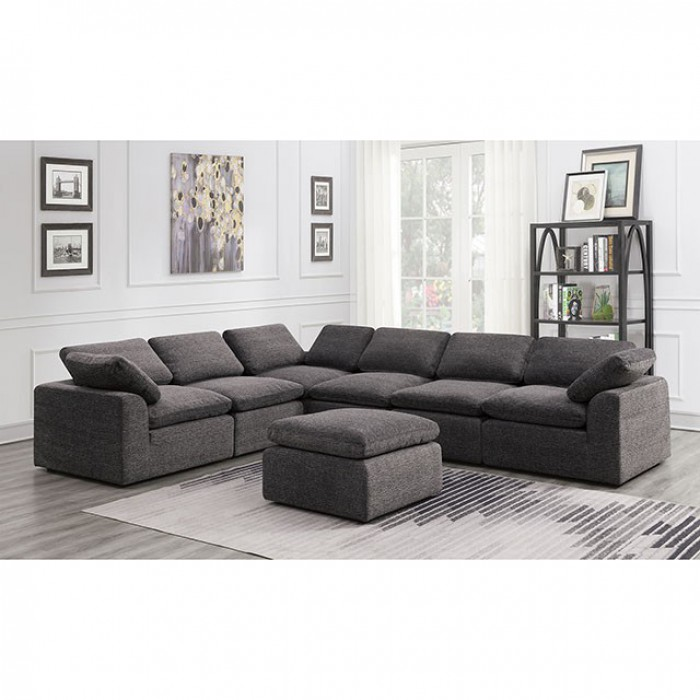 Gray 6 Piece Sectional Sofa