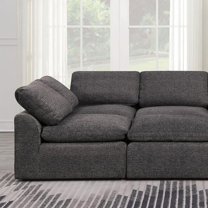 Gray Sleeper Sofa Closer Look