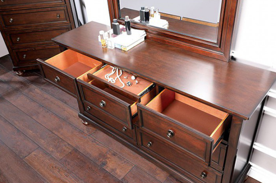 Dresser Top w/ Drawers Opened