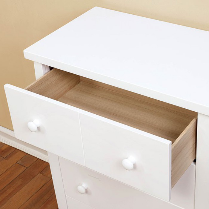 White Chest Top Drawer Opened