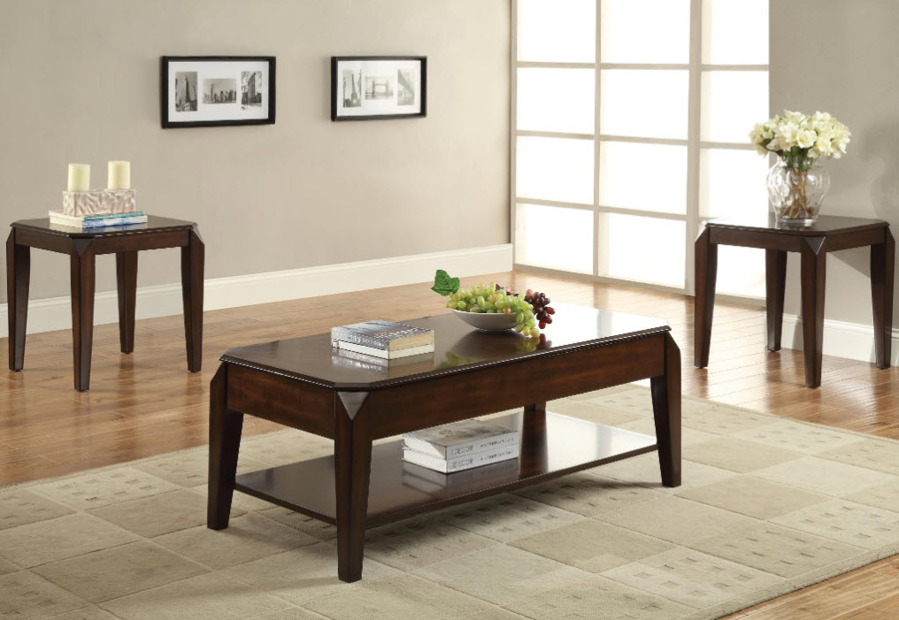 Coffee Table W/Two End Tables
