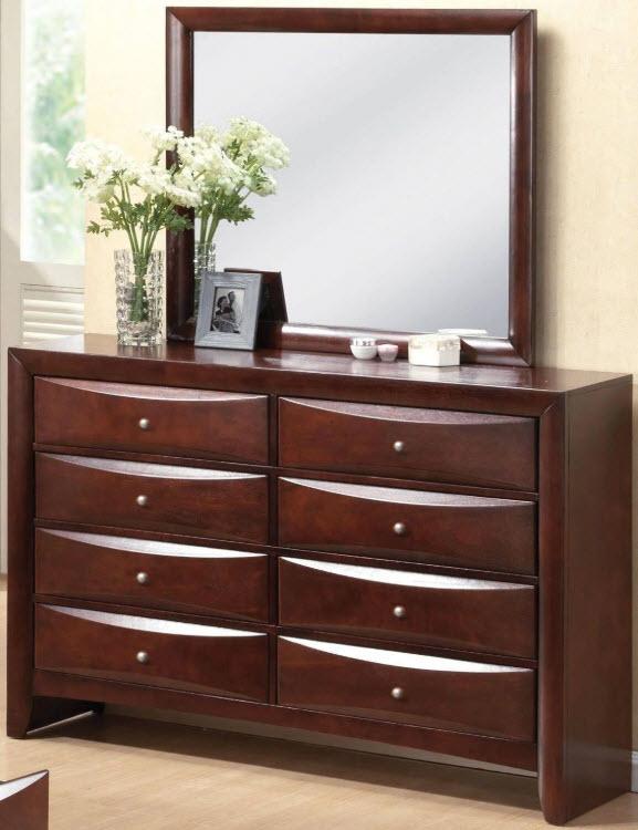 Espresso Dresser W/Mirror