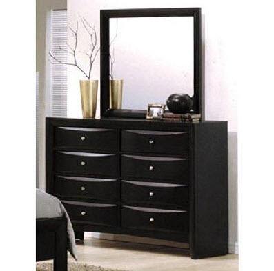 Black Dresser W/Mirror