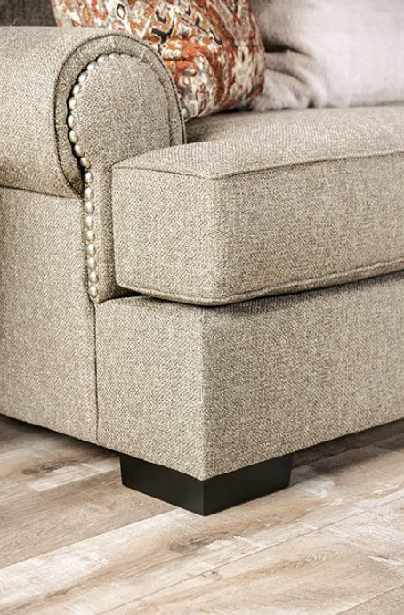 Gray/Rust Orange/Beige Sofa