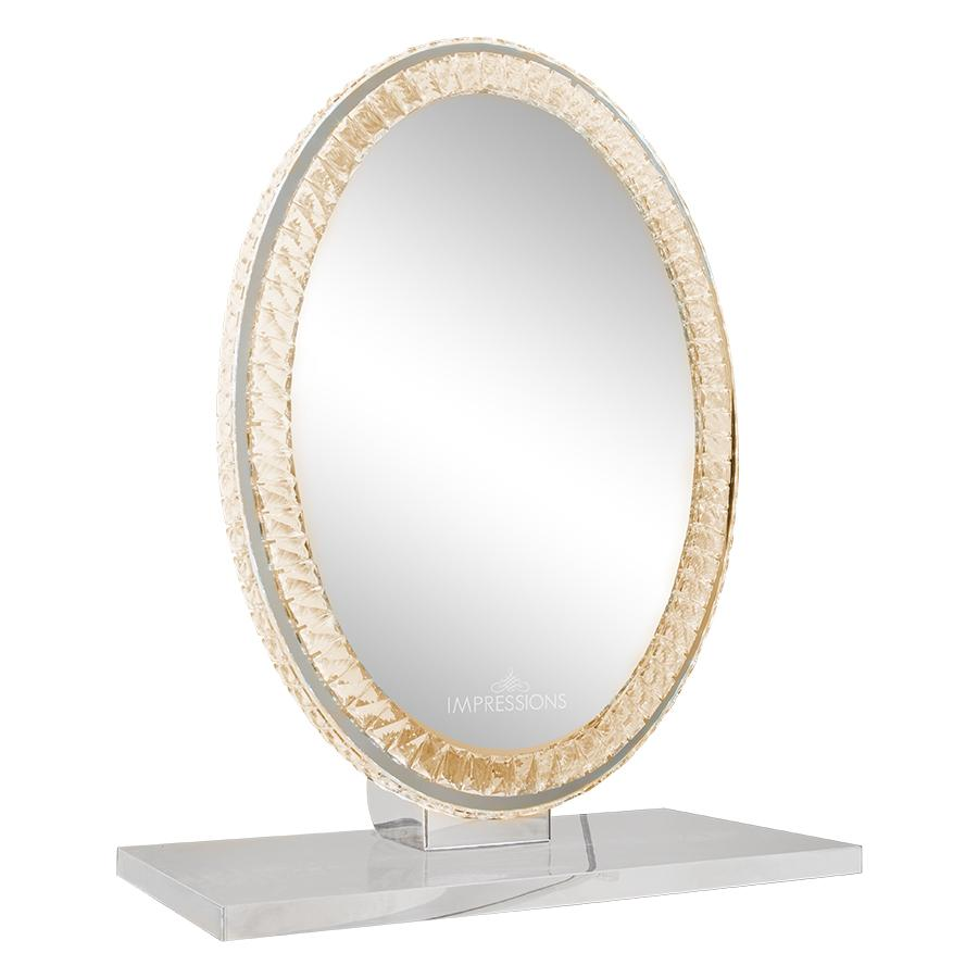Oval Table Top Vanity Mirror w/ Different Lighting Set
