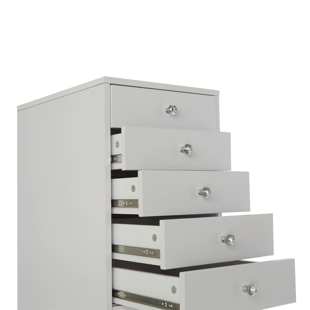 White 5-Drawers Opened