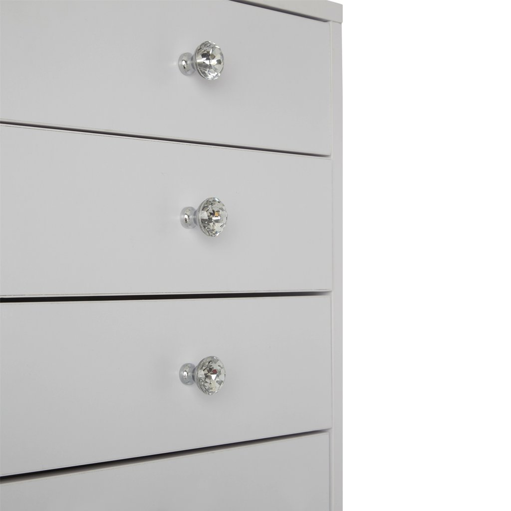 White Drawers Close Up Details