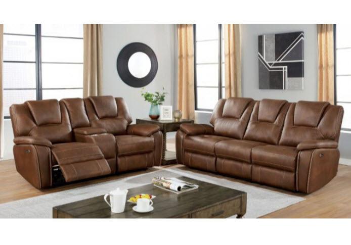 Brown Sofa & Loveseat