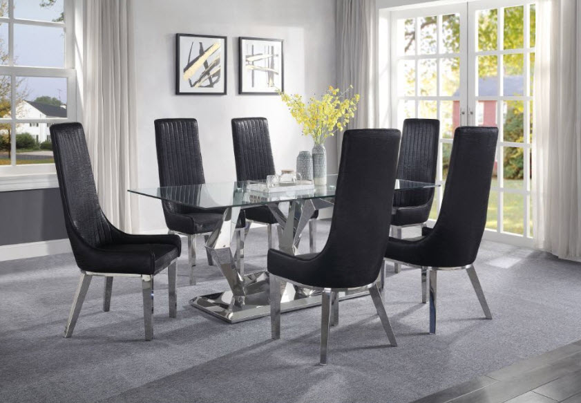 Complete Set W/Black Chairs