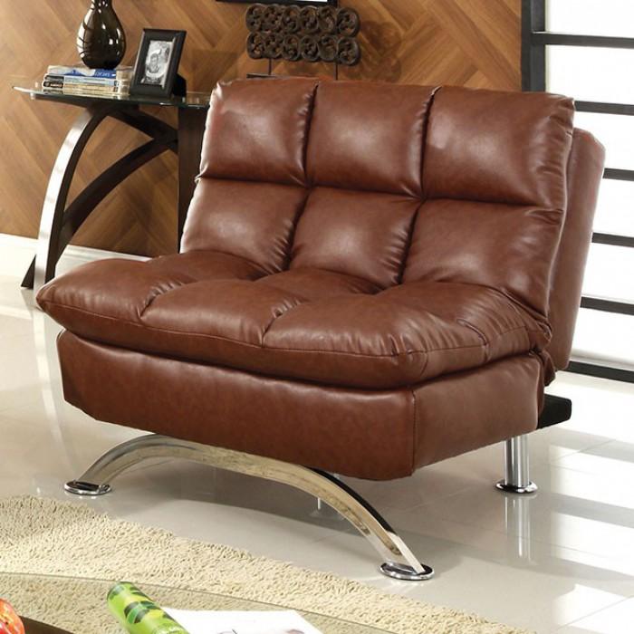 Saddle Brown Futon Chair